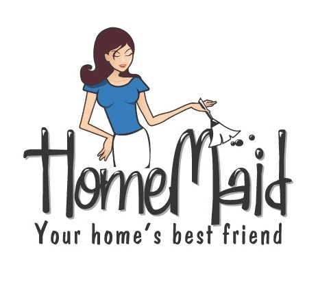 This is a cool logo that we did for a local residential house cleaning service, Home Maid