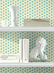 wallpaper the back of your shelves then change it out next month with sure strip