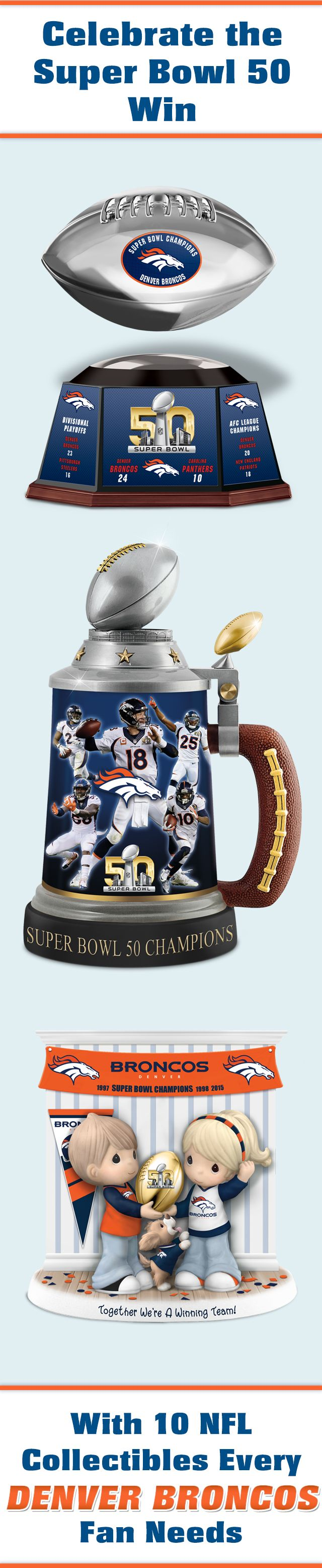 Celebrate your Super Bowl Champions in winning style. Shop and share these one-of-a-kind Broncos tributes: