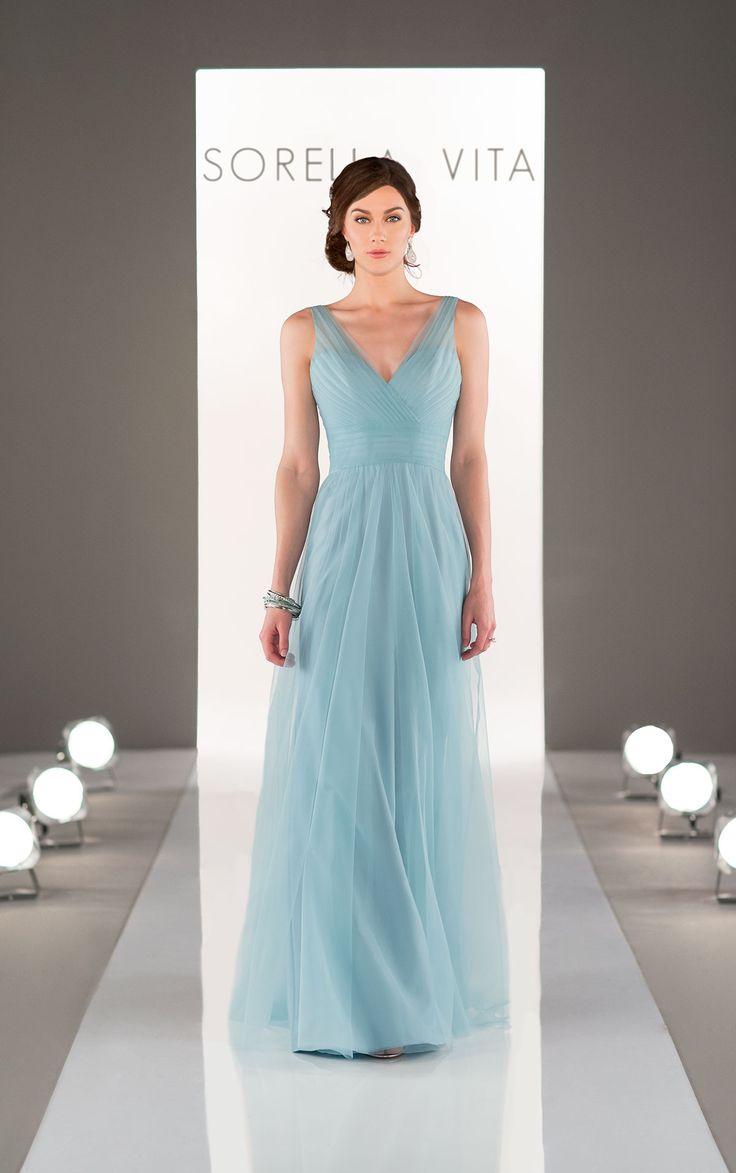 47 best sorella vita images on pinterest bridesmaids bridesmaid tulle v neck bridesmaid dress ombrellifo Images