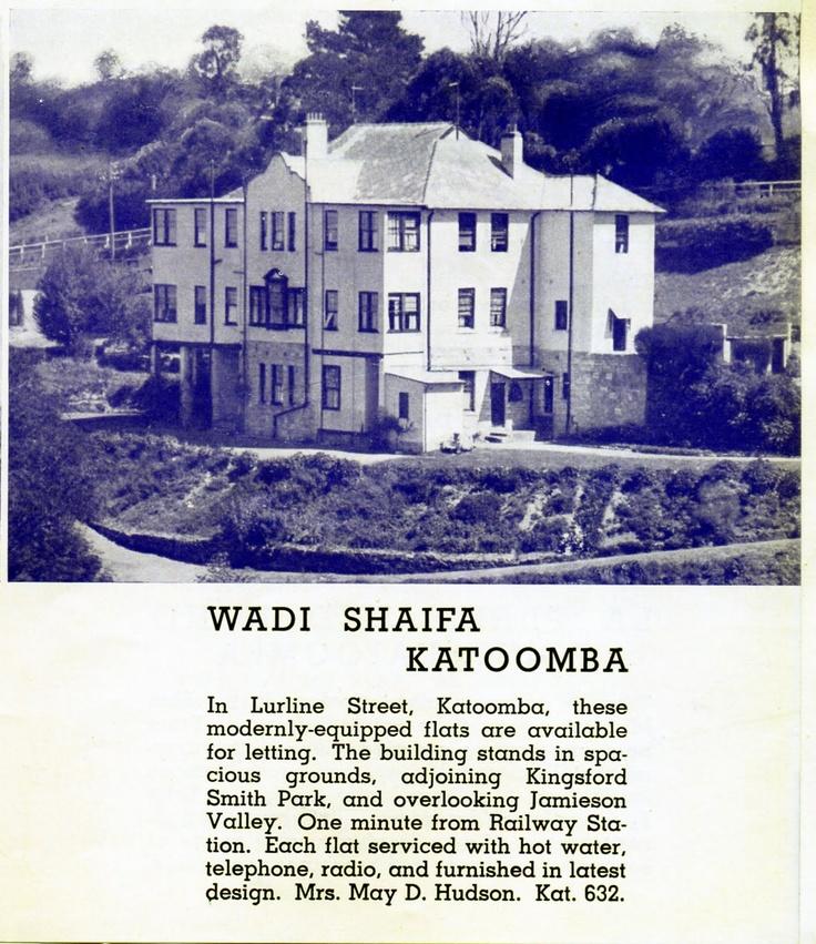 Wadi Shaifa, Katoomba (Modern Flats for letting)