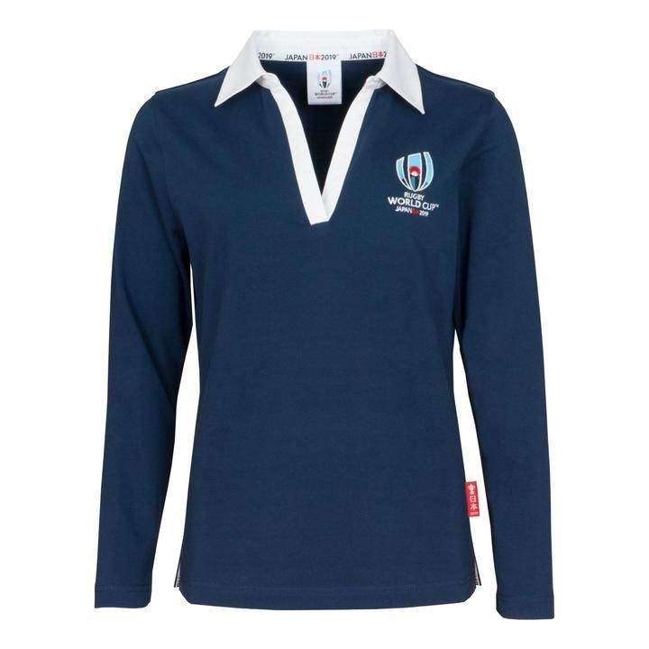 0a74fa51595 Rugby World Cup 2019 Women's Long Sleeve Classic Rugby Shirt | Navy ...