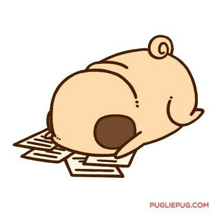 Best 25 Pug Cartoon Ideas On Pinterest Pug Illustration