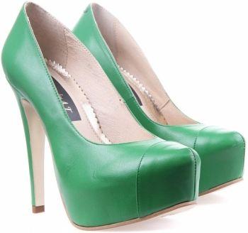 Pantofi Piele Verzi