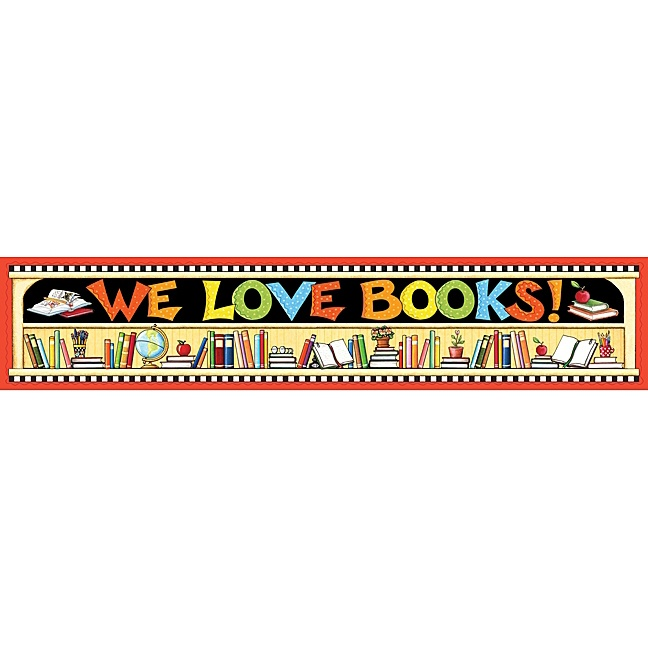 We Love Books Banner
