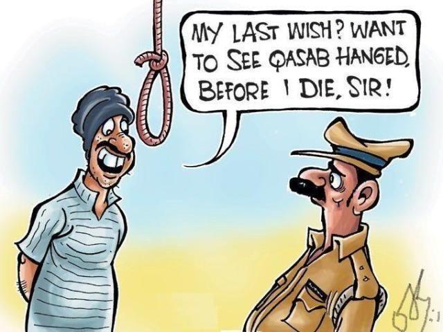Prisoner & Jailor Hang Funny Cartoon Joke