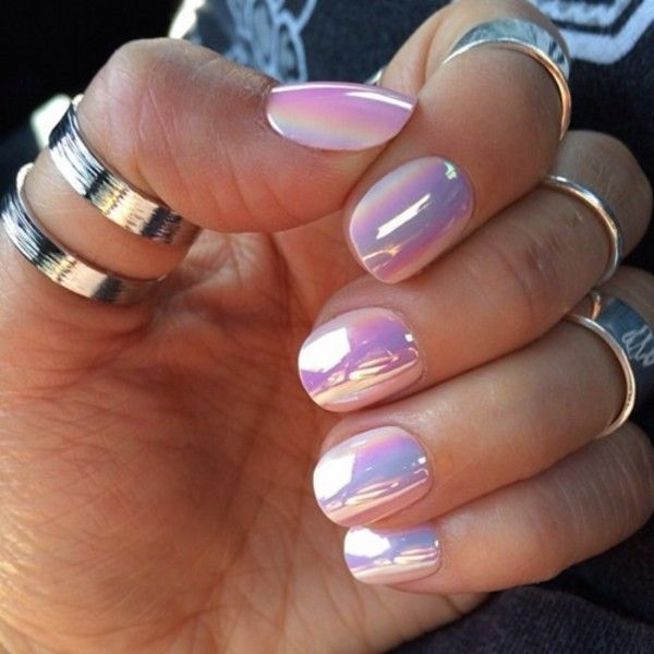 Nail polish: nails nails art pink white aqua beautiful nails cute jewels rosa gold yellow metallic