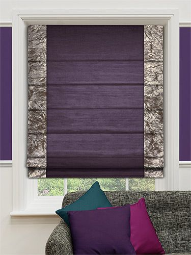Faux Silk Crush Plum Roman Blind from Blinds 2go