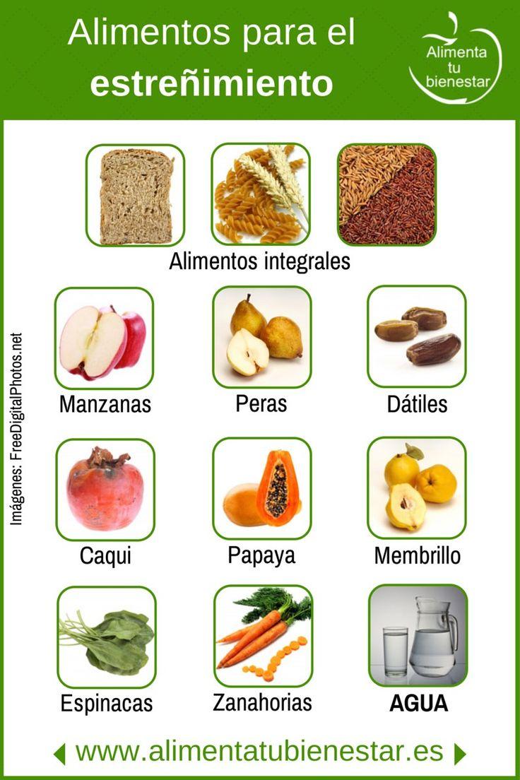 #infografia Alimentos para el estreñimiento #salud #bienestar #alimentatubienestar