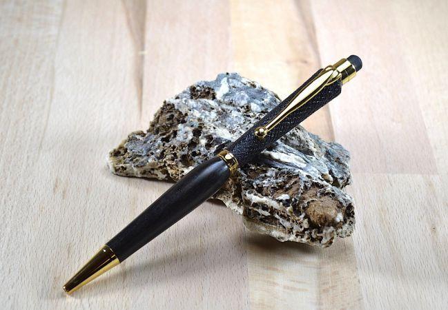 Tournage sur bois Ébène du Gabon texturé Bois précieux stylos
