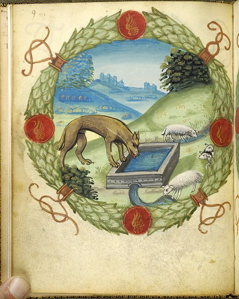 Fables and other poems, MS M.422 fol. 5v - Images from Medieval and Renaissance Manuscripts - The Morgan Library & Museum