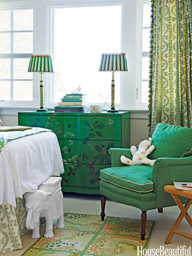 """Emerald Girls' Room. """"These greens are little-girly but sophisticated enough to grow up with.""""  -Meg Braff"""