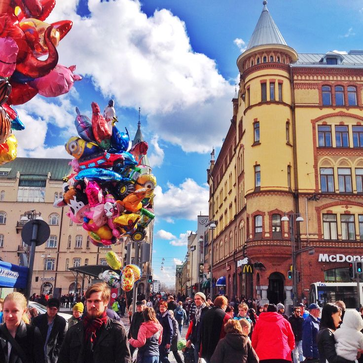 May Day at Tampere Central Square, Finland #TampereAllBright