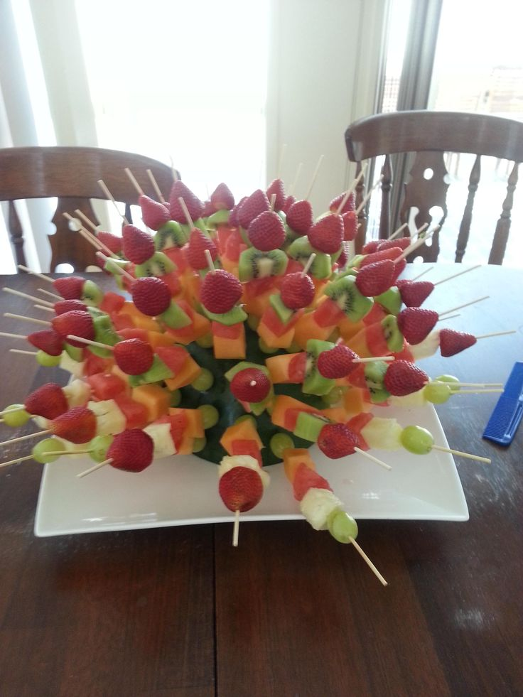 Showy But Simple Fruit Kabobs Perfect For A Party