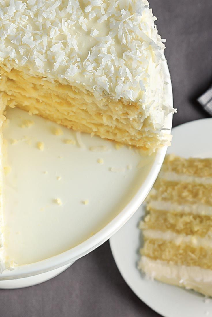 Coconut Cake Recipe - This moist coconut cake is reminiscent of the venerable classic that was a staple of birthdays for years, and is now most often found in the freezer case at the grocery store. Still, there's nothing like a fresh, moist, homemade coconut cake. If you've never made one, here's a great place to start.