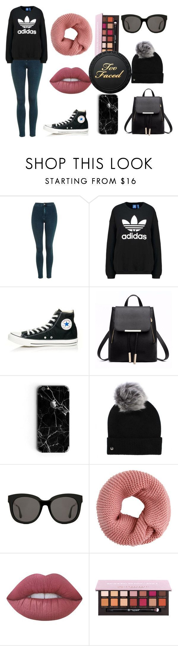 """""""Too Faced"""" by pinkybunny on Polyvore featuring moda, Topshop, adidas Originals, Converse, UGG, Gentle Monster y Lime Crime"""