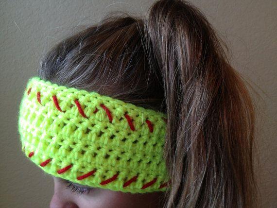 Softball Headwrap Softball Headband Crochet by WinsomeStitch, $15.00