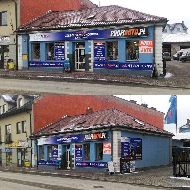 Brending sklepu Skopol w Busku #projektgraficzny #graphicdesign #reklamanalokalu #headofficeadvert #profiauto #skopol #mgraphics #buskozdroj www.mgraphics.eu