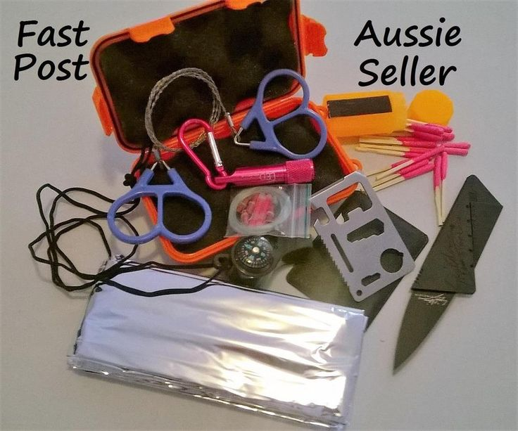 New Emergency SOS Survival Rescue Kit Camping Hiking Outdoors