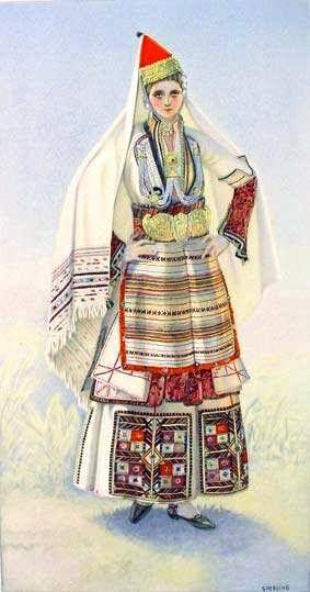 Macedonian Clothes:  Greek Peasant Woman's #Dress (#Macedonia, Episkopi) northern #Greece