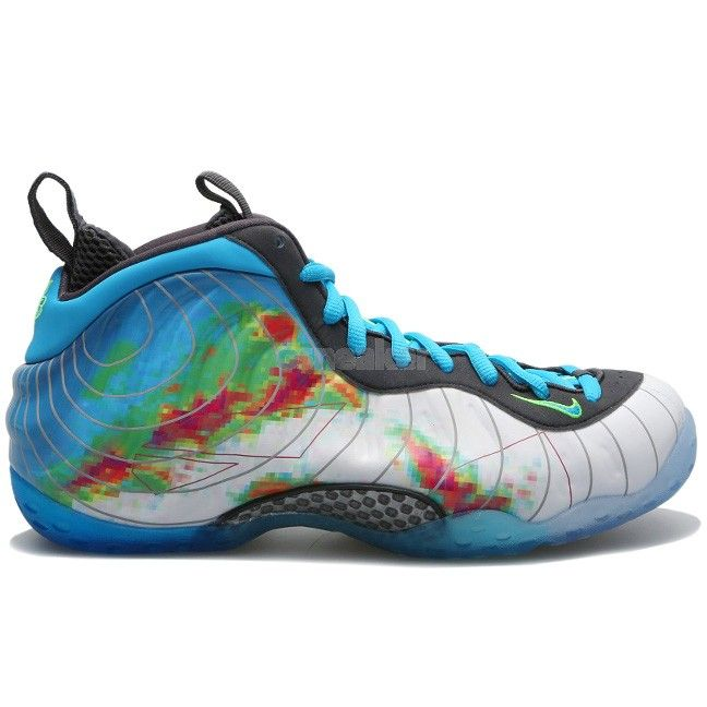 The Nike Air Foamposite One Weatherman release date is on the books. The  shoe, with its white-based Foamposite upper that features Doppler radar  imagery.