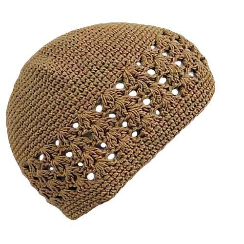 Warm Beige Knit Crochet Beanie Skull Kufi Cap Hat Kufis