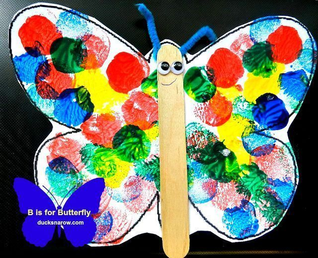 B is for Butterfly Preschool Lesson and Craft #butterflies #preschool http://www.ducksnarow.com