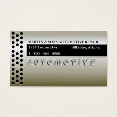 METALLIC GOLD AUTO BUSINESS CARD