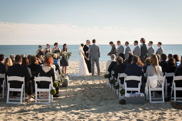 The Winnetu Oceanside Resort Wedding on South Beach in Martha's Vineyard. Nicole Friedler Photography