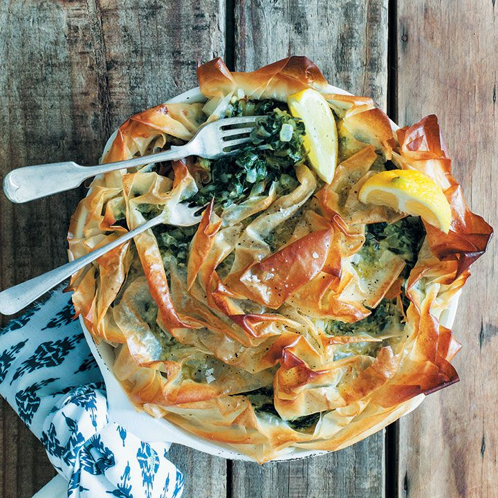 The spanakopita recipe, also known as spinach pie, is a family favourite recipe from The Gourmet Greek. Click here for the quick and easy recipe.