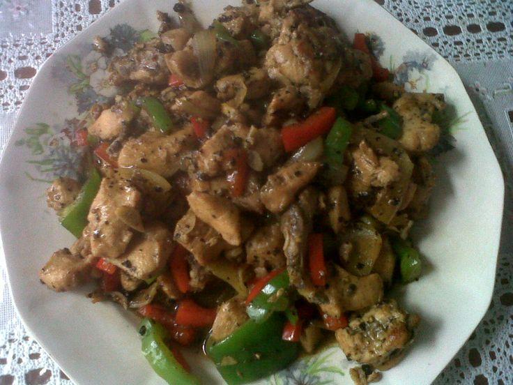 Homemade Chicken Black Pepper by me..:D