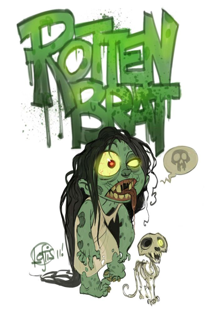 Rotten Brat Zombie. This is how you act! Lol! Poor, poor girl!