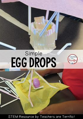 STEM Challenge: Here's a very easy egg drop that uses only a few materials- one of which is straws! Check the blog post for more!