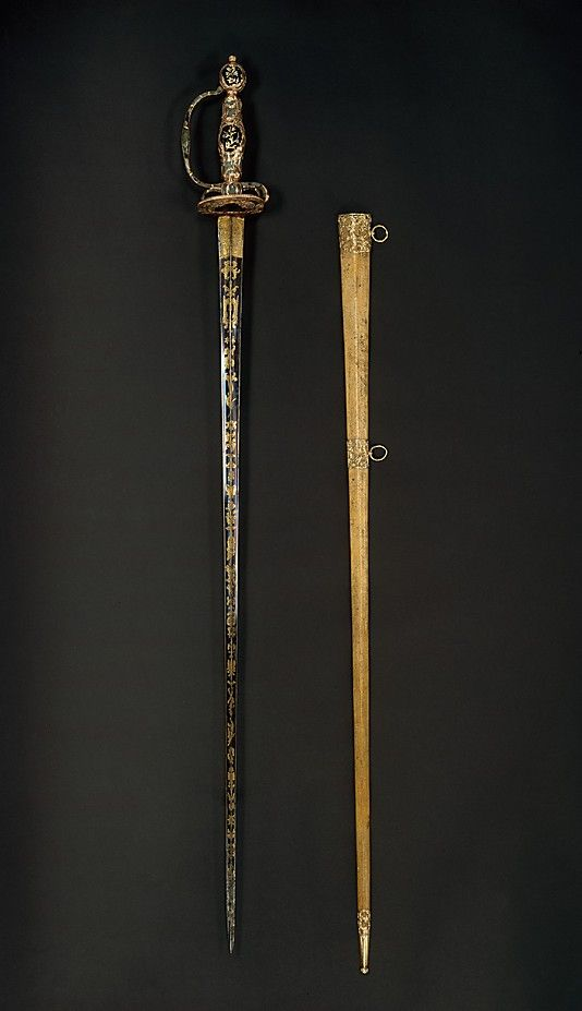Smallsword, ca. 1750–60. Possibly German. The Metropolitan Museum of Art, New York. Rogers Fund, 1984 (1984.349a, b) #sword