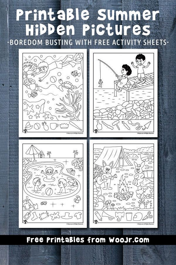 Printable Summer Hidden Pictures | worksheets | Hidden pictures ...