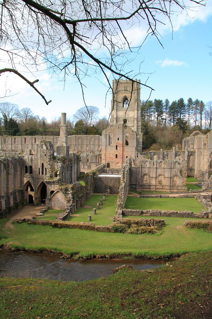 I want to visit Fountains Abbey, North Yorkshire, England - it is where my family has traced our origins to