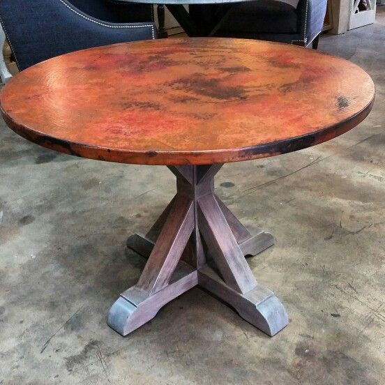 17 best images about copper table on pinterest color for Table 52 houston