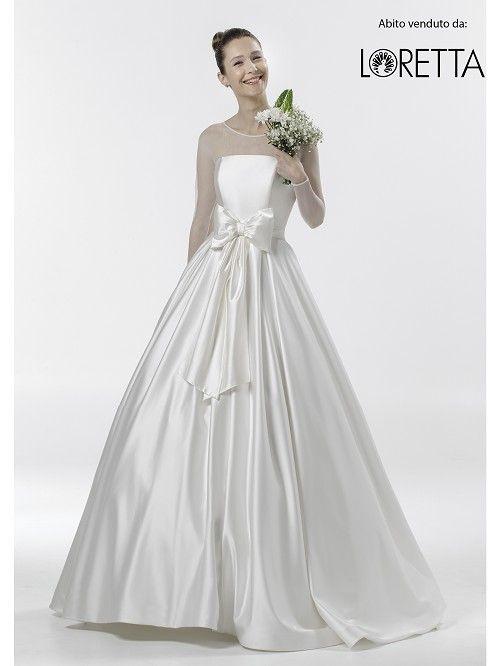 Collezione 2016 | Abito da sposa in tessuto lucido con fiocco in vita #matrimonio #sposa #wedding #weddingdress