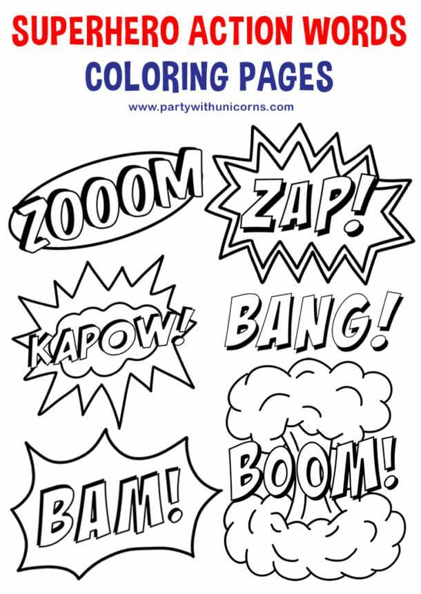 Superhero Coloring Pages Superhero Actions Superhero Coloring