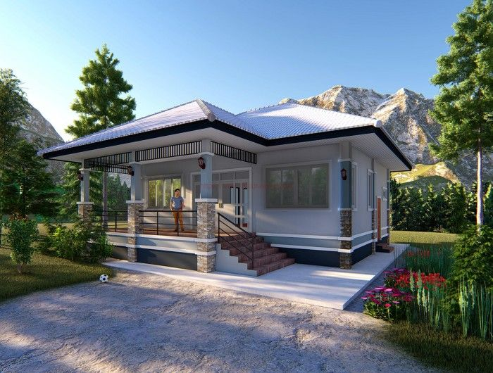 One Storey Elevated House Concept With 2 Bedrooms Pinoy House Plans Philippines House Design Elevated House Plans House Plan Gallery