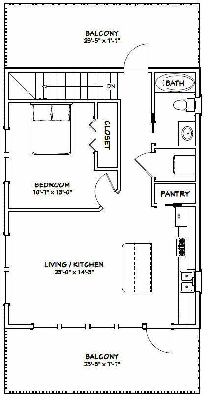 24x32 House 1 Bedroom 1 5 Bath 851 Sq Ft Pdf