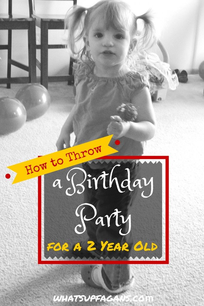 Some very helpful tips on how to plan a party for a 2 year old's birthday. Very helpful! | whatsupfagans.com
