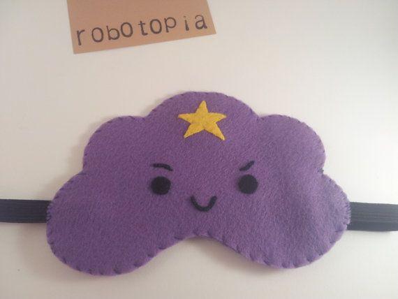 Lumpy Space Princess Sleep Mask  Adventure Time  by Robotopia, £15.00
