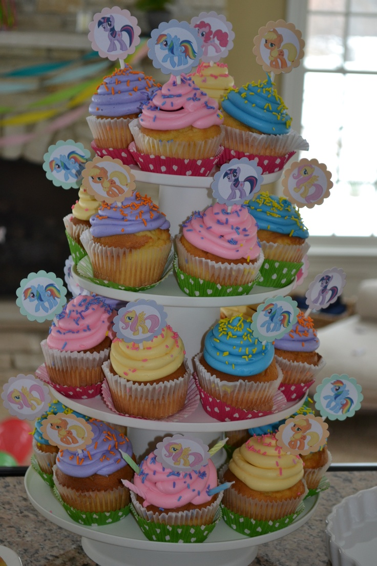 My Little Pony Party Cupcakes