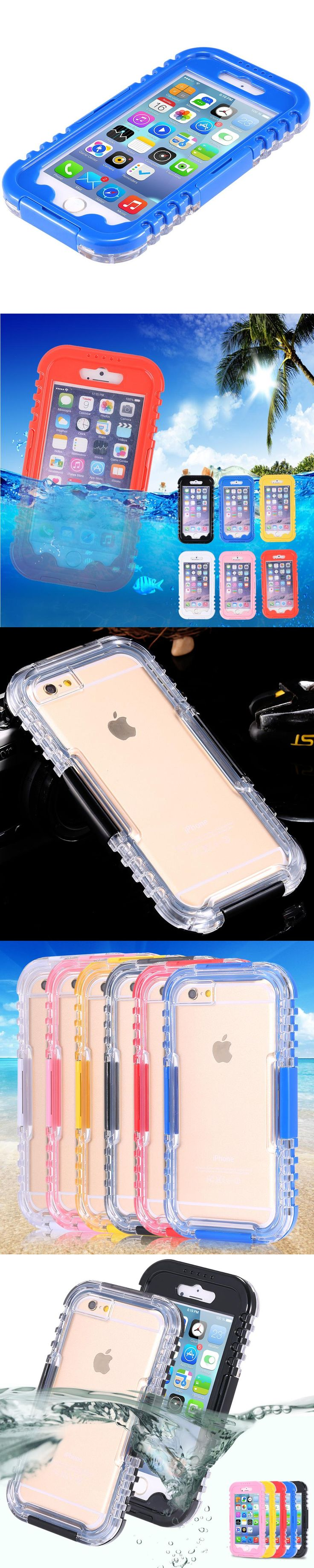 For Apple iPhone 6 Case 6S Plus PC+Silicone Shockproof Waterproof Underwater Swimming Cover for iPhone 7 IP7 Plus 8 Plus Cases