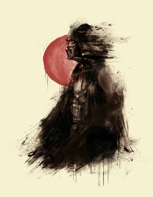 Darth Vader and the first rising sun of Tatooine