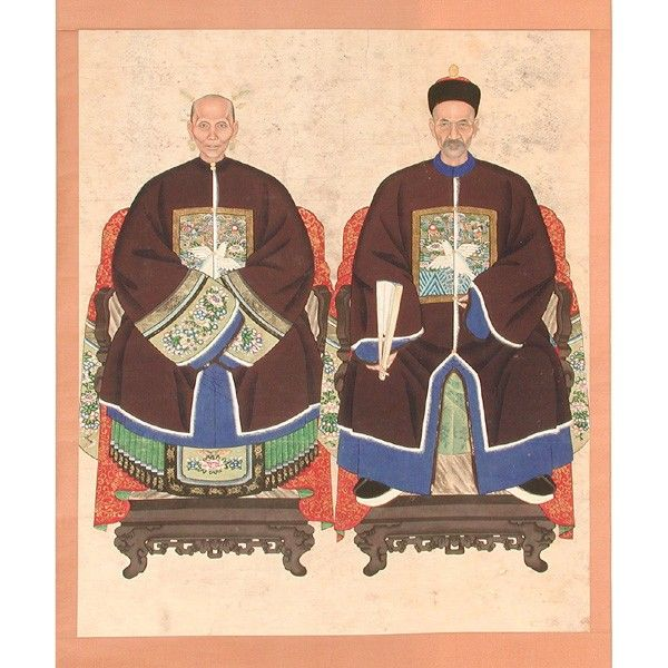 Antique Chinese Scrolls: 17 Best Images About CHINESE ANSESTOR SCROLLS On Pinterest