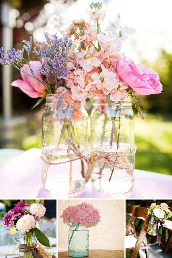 mason jar wedding favors | Mason Jars As Vases For A Wedding — Wedding Ideas, Wedding Trends ...