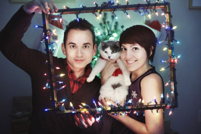 Love the frame for Christmas photo!