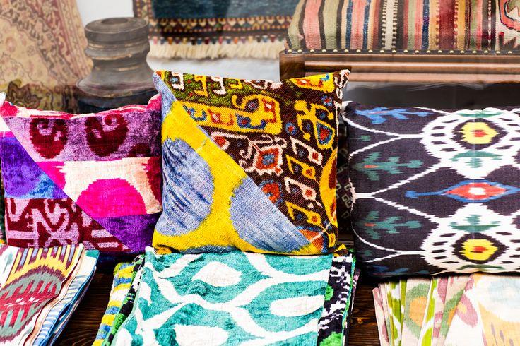 DIY Kissen afrikanische Stoffe